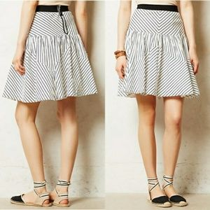 Anthropologie striped mini skirt Great condition